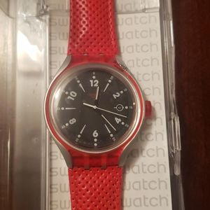 Swatch Watch Irony Lite Black and Red
